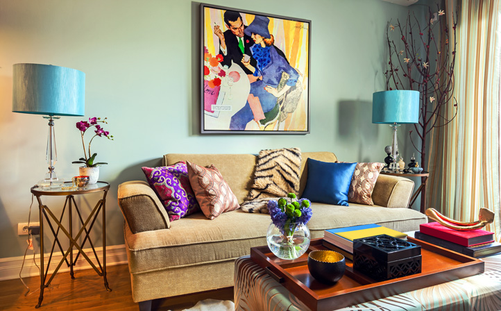 Colorful Living Room Wild Retro · Connect Consult Design Discover
