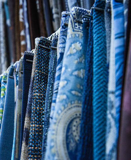 Bright Blue Fabric Selections