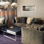purple living room contemporary glitz