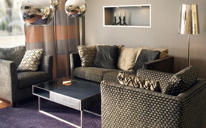 purple living room contemporary glitz