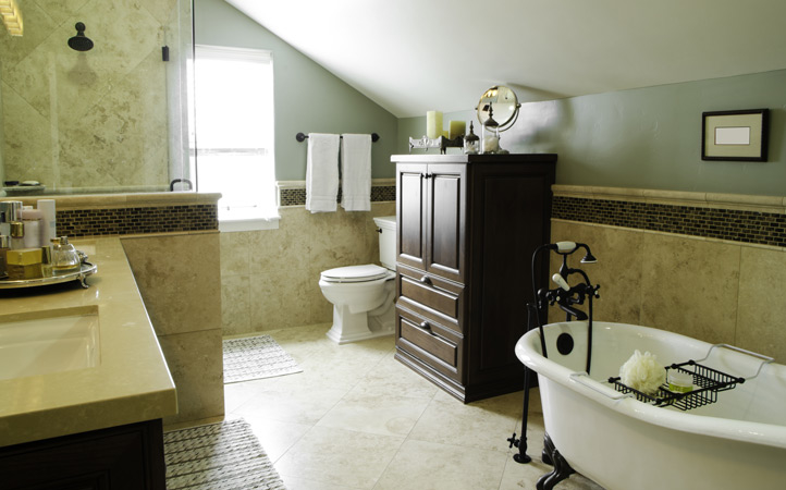 bathroom lofted victorian