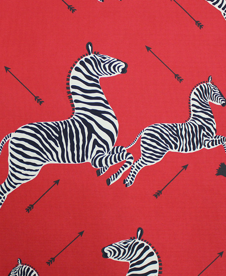 Scalamandre red zebra print