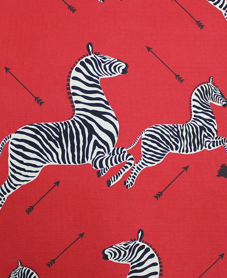 Scalamandre red zebra print