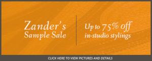In-Studio Sample Stylings Sale