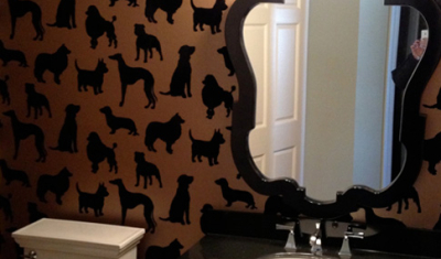 Dog Wallpaper Bathroom