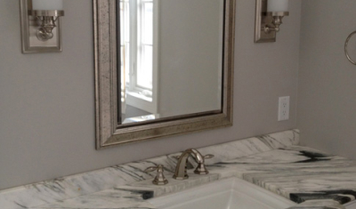 Zebra Marble Bathroom Top