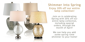 Spring Sale! 20% off entire lamp collection