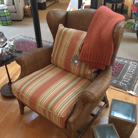 Zander's Boutique Moving Sale - Baker Woven Wing Chair
