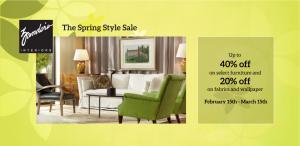 Zander's Interiors Spring Style Sale
