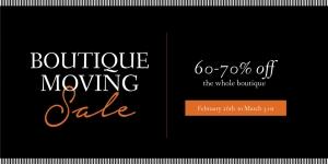 Zanders Interiors - Boutique Moving Sale